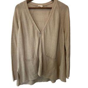 Eileen Fisher Open Long Sleeve Cardigan Organic Lin Size XL